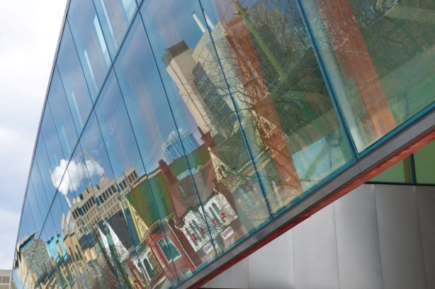 reflections in the windows of the Art Gallery of Ontario