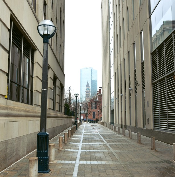 down the lane towards old city hall