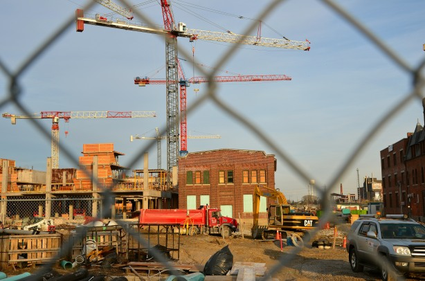 No access - Cherry Street is closed during the massive construction in the West Don Lands area.