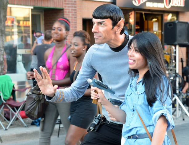 What would a street festival be without a Vulcan?
