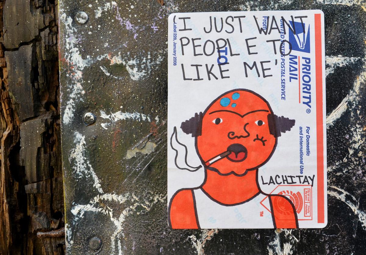 Priority Mail Sticker Graffiti walking Graffiti Alley...