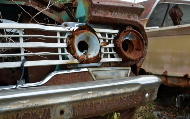Most of the cars had obviously been picked over for spare parts or scrap metal. While we were there, we met a man who was looking for parts that were specific for a certain model of car but only between 1964 and 1966. I am not sure if he was successful!