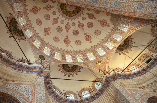 One of the domes of the Blue Mosque