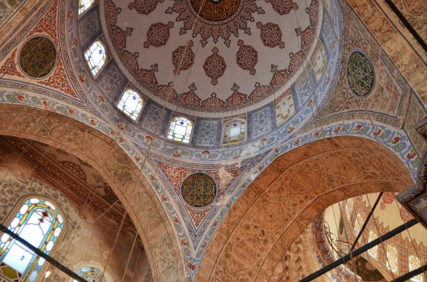 Another of the domes of the Blue Mosque
