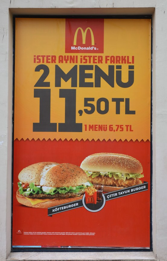 large advertisement poster for McDonalds