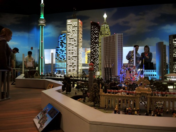A lego model of some of the buildings in downtown Toronto
