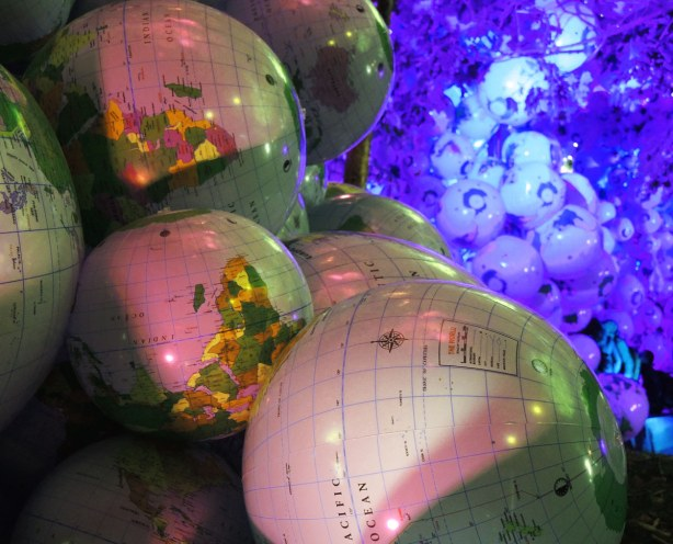 some of the inflatable globes.