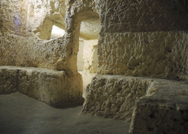 in the catacombs under St. Pauls church in Rabat