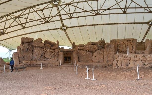 walls of prehistoric limestone