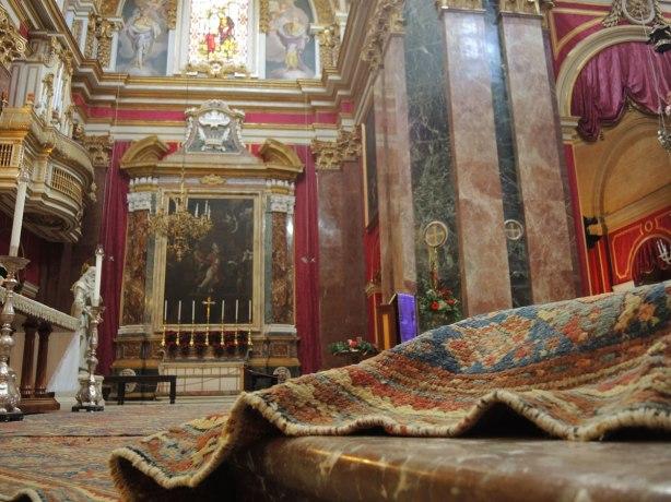 interior of St. Pauls cathedral, Mdina,