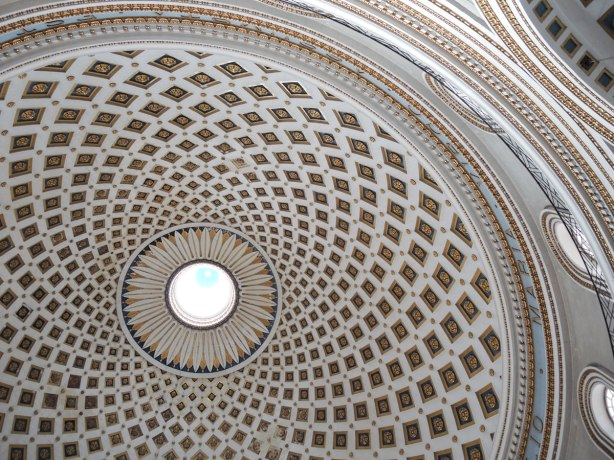 part of the large 40 metre dome, from the inside
