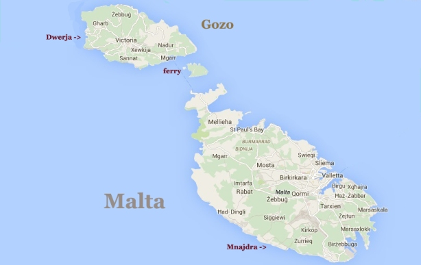 map of Malta and Gozo