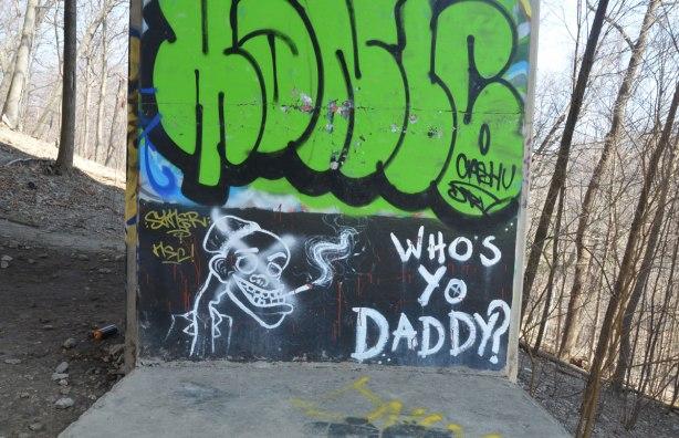 whos yo daddy? graffiti