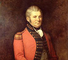 A portrait of John Graves Simcoe