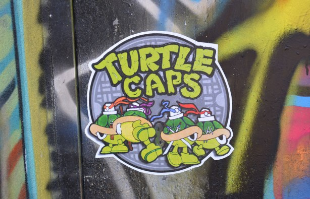 turtle caps, a parody of teenage mutant nija turtles