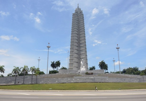 large monument to Jose Marti in Havana Cuba.