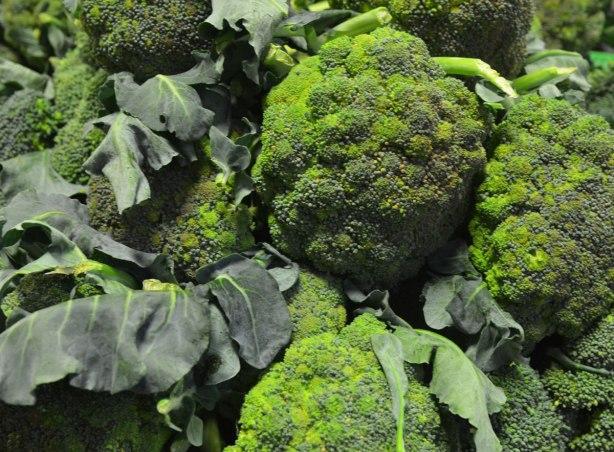 a pile of broccoli