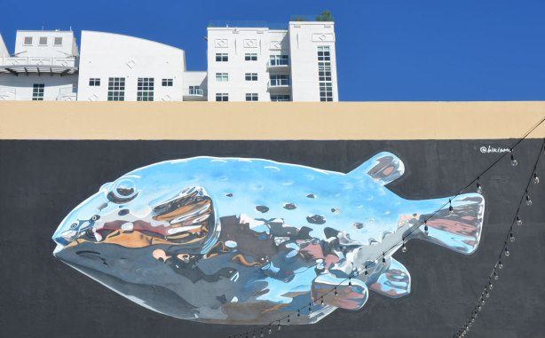 mural of a large fish