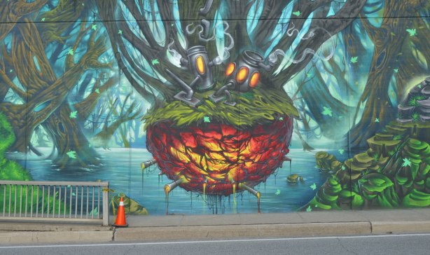 Return to lawrence west as i walk toronto for Earthrise mural