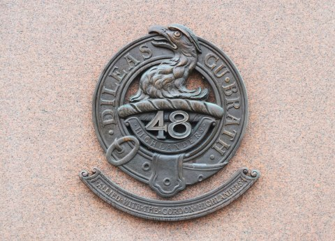 symbol, in metal, found on the memorial to the 48th Highlanders.