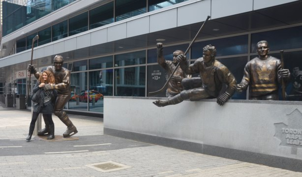 Legends Row statues, Sundin, Salming, Kennedy and Sittler