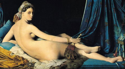 picture of the painting 'La Grande Odalisque' by Jean Auguste Dominique Ingres, 1814