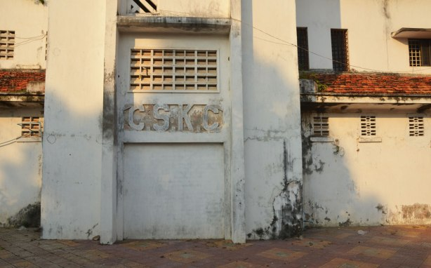 an abandoned C.S.K.C. building in Kampong Cham