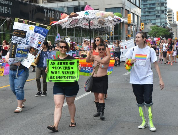 walkers in a dyke march in Toronto