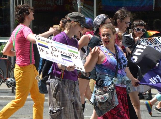 walkers in a dyke march in Toronto -