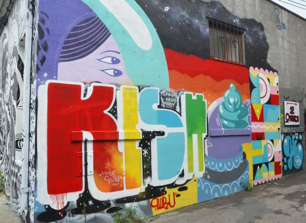 colourful mural by Peru with the letters K E S H