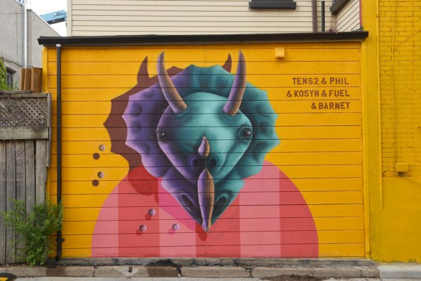 small mural of an animal head, street art, by Fuel, Kostyn, birdo