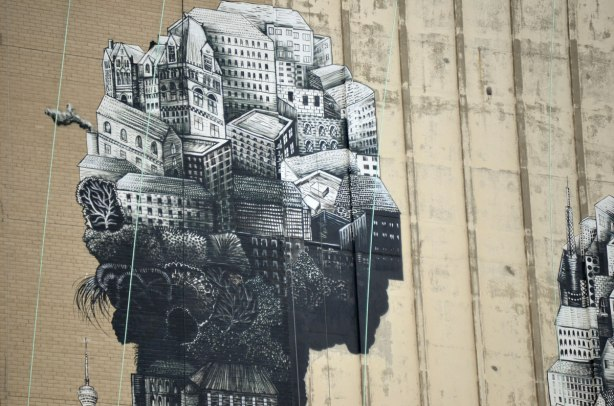 head part of phlegm mural