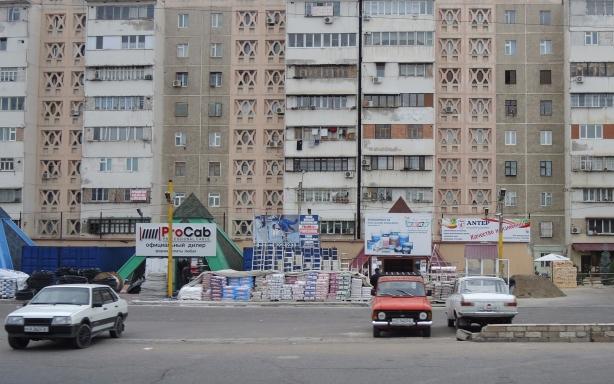 high rise building from the Soviet era in Tashkent Uzbekistan