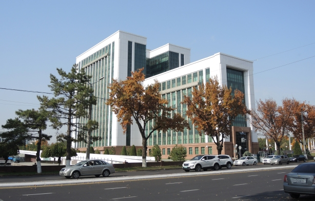 modern office building in Tashkent