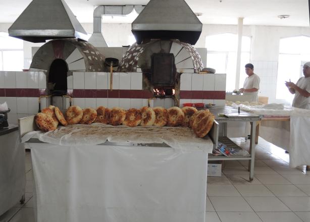 baking bread at the bakery