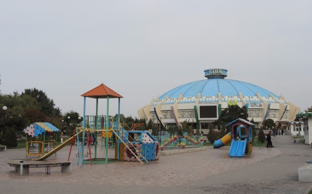 old playground structure