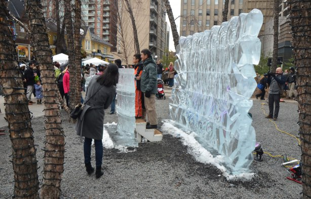people at the Bloor Yorkville Icefest