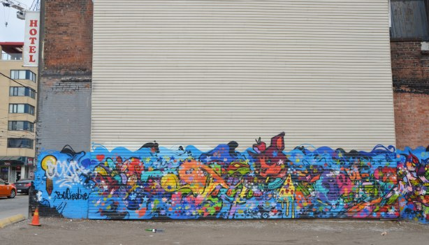 left side of dream chaser mural