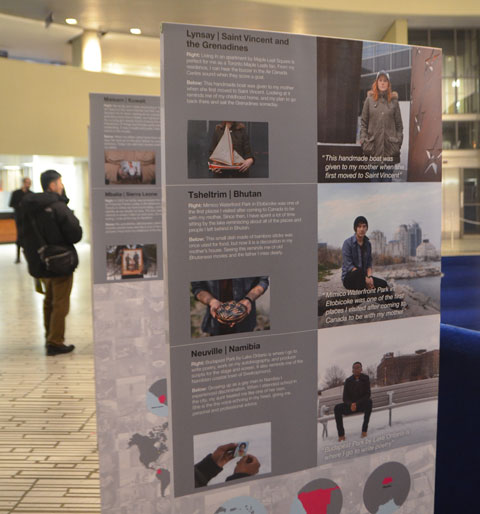 Cosmopolis posters on display at City Hall as part of Myseum Intersections festival