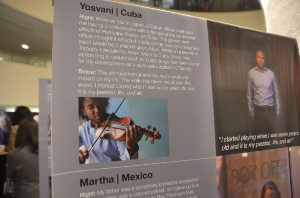 portrait and story about Yosvani from Cuba, a violin player