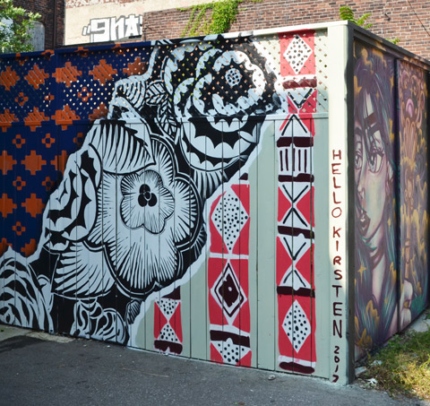 mural by hello kirsten, shapes and geometry,