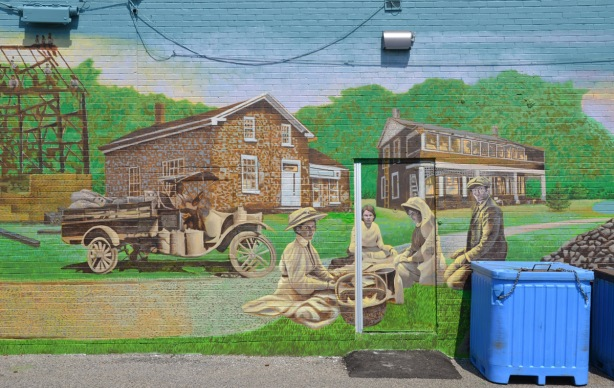 part of a larger mural showing the story of Port Union -