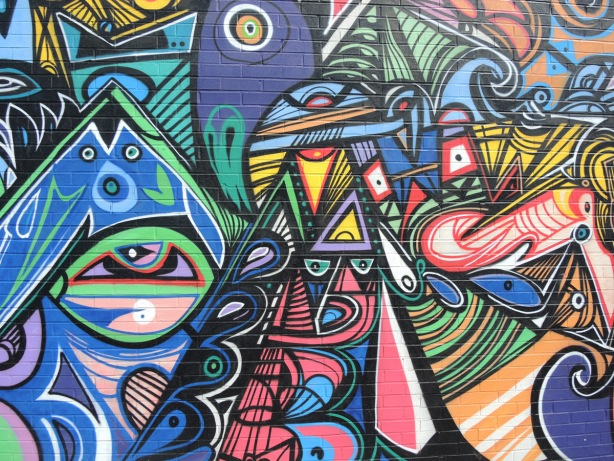shapes, lines and patterns in Jimmy Chiale mural