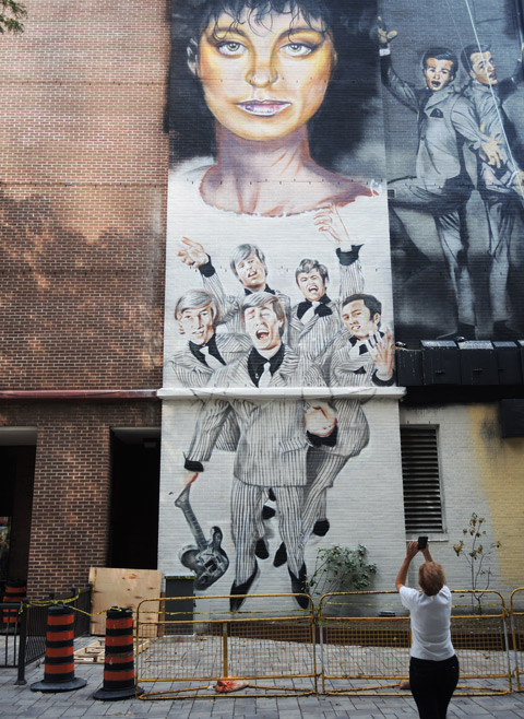 music mural,