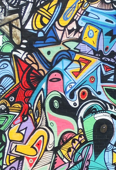 details of a mural by Jimmy Chiale