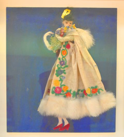 costume design mockup by Florine Stettheimer, AGO exhibit,