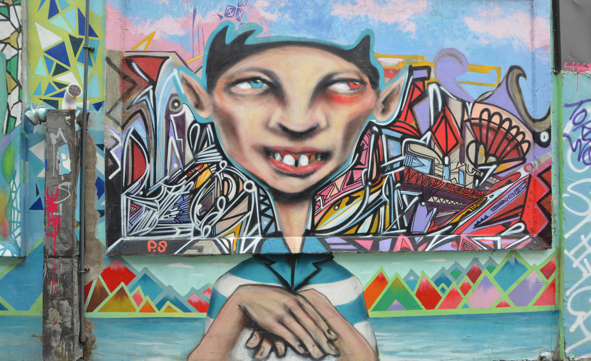Faces As I Walk Toronto Circuit Board Wall Murals Mural Of A Head And Shoulder Young Man By Ps In An