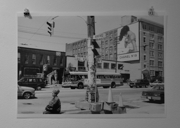 photo by Avard Woolaver of Toronto in the 1980s, this view is the north west corner of Queen and Spadina