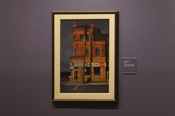 painting of the Canary restaurant on the corner of Cherry and Front streets