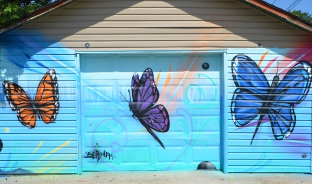 butterfly mural by serina